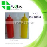 Lower Price Small Food Grade Plastic Sauce Squeeze Bottle for Hotel Restaurant Bar Kitchen