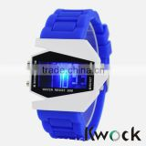 High quality Silicone Digital Watches with Soft Silicone Wristband and fty sale directly