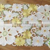 Full heat transfer emroidery lovey wedding table cloth country style tablecloth machine embroidered tablecloth