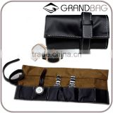 Wholesale Large Capacity Genuine Leather Watch Storage Bag Six Purse Travel Watch Bag Jewellery Pouch