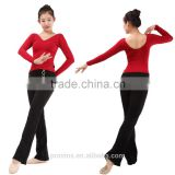2543 Black Women Dance Long Pants, Down Pant, Women Down Pants