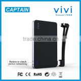 multifunction 8000mah power bank battery charger for smartphone tablet iph5/iph4 camera ROHS CE FCC