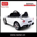High quality best price RASTAR baby Ferrari F12 12V rc ride on baby car