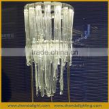 rough shape decorative rope chained crystal chandelier pendnat light
