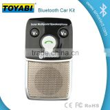 Dual Phones Connecting Universal Hands Free Bluetooth Car Kit with Bluetooth Speaker for Smartphone