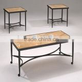 Modern Coffee Table Set /Hot Sale Antique Marble MDF Wood Cafe Table Sets