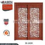 China classic glass double sliding doors wood door design window for home decoration