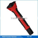 Emergency Car Break Glass Hammer with High Bright Led Flashlight, SOS Light,Safety Belt Cutter,Adjustable Hammer Length
