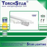 50% energy saving 8W G5 LED T5 tube