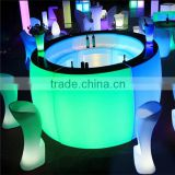 changing night club furniture table led bar table furniture led