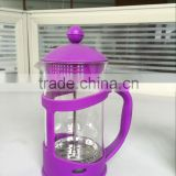 200-1000ml PP Frame Borosilicate glass french press plunger/Coffee maker