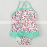 Trade Assurance OEM Service Cute lovely Young child Girl kids One-Piece Bikini Kids Swimwear