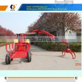 atv logging equipment log trailer with telescopic crane
