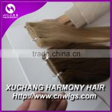 Quality european virgin skin weft hair extensions/indian tape hair extension/brazilian tape hair extensions