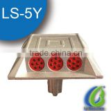 LS-5Y Aluminum solar road marker/Led Solar Cateye aluminum road stud                                                                         Quality Choice