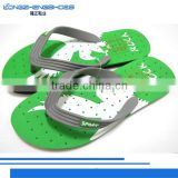 2014 new mens PVC sandals with die-cut printing style