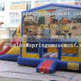 CARS classical inflatable jumper and slide combo castle for kids SP-CM034