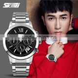 China Watches Manufacturer SKMEI 9097 Luxury Stainless Steel mens Watches popular in Western Custom Design