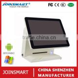 Android touch screen automatic electronic cash register pos machine with 80mm thermal printer driver for supermarket