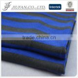 Jiufan Textile Stripe Design Brushed French Terry Knit 96 Polyester 4 Spandex Stretch Fabric For Knitwear
