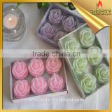 6 pcs per box 4 hours rose candle proposal wedding flower shape high quality wholesales candle