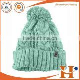 Wholesale cable knit beanie with custom pattern design                                                                         Quality Choice