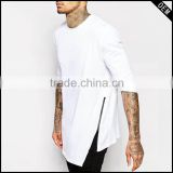 fashion design blank white long sleeve 100 egyptian cotton luxury bulk t-shirt with cheap price                                                                         Quality Choice
