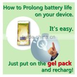 Portable and functional smartphone charger battery activator gel for improving shelf life