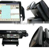 "High quatity! 15"" 12inch all in one touch screen pos system with barcode printer(SUP-SPOS501)"