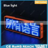 2016 hot selling scrolling message programmable led name badge