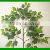 Artificial white birch tree leaves/fake birch leaf /fake Betula leaves/plastic birch leaf fronds