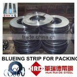 A leading manufacturer-Blue Tempered Metal Binding Strip-Blueing Steel Packing strips-Packing Belts-Materials Steel