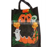 Halloween printed pumpkin non-wowen fabric bag for kids
