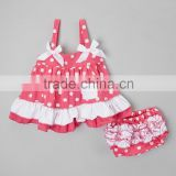 new fashion popular boutique baby clothing cotton garments with diaper cover for baby girls/kids
