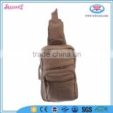 wholesale canvas fabrics zipper city sling shoulder bag backpack