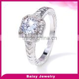 Trade assurance supplier Fashionable Jewellery silver new design ladies finger ring