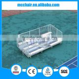 3 rows floor deluxe aluminium bleacher grandstand chairs 3F gym chair bleacher chairs stadium seats used bleachers for sale