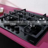 Kitchen electrical household appliances 4 burners kitchen gas hobs with tempered glass panel