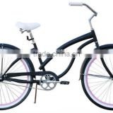 2015 fashionable 26'' Lady Beach Cruiser Bike MattBlack bicycle chopper cruiser bike