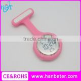 Hot Pin Wear Brooch Design Silicone Digital Nurse Watch with Free shipping