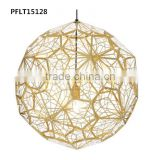 silk crystal ball pendant light