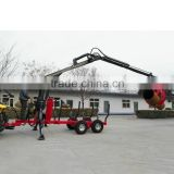 2016 hot selling ZM1002 1 ton ATV timber trailer with grapple for 10-25HP tractor