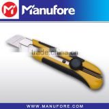 25mm heavy duty knife with snap-off blade, plastic utility knife with twist lock safety system