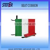 Cheapest Italy flag printing EPE foam folding foldable seat cushion , Green white red printing foldable seat cushion