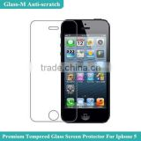 For iphone 5 protective film shatterproof,tempered glass protective flm,9H hardness protective film