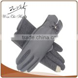 Middle Sex Thinsulate Leather Ski Gloves With Touch Screen
