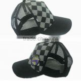 printed checked sports baseball mesh cool caps hats/sunvisor cap hat/cycling cap hat/trucker cap hat