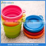 Dog accessories silicone pet bowl feeder