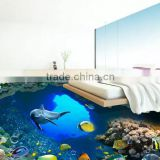 Custom photo floor wallpaper 3D stereoscopic Ocean World 3D floor PVC wallpaper self-adhesion floor