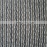black,white and brown /stripe/ wool tweed fabric with polyester